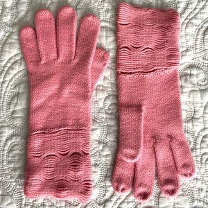 Nordstrom Pale Pink Open Knit Gloves